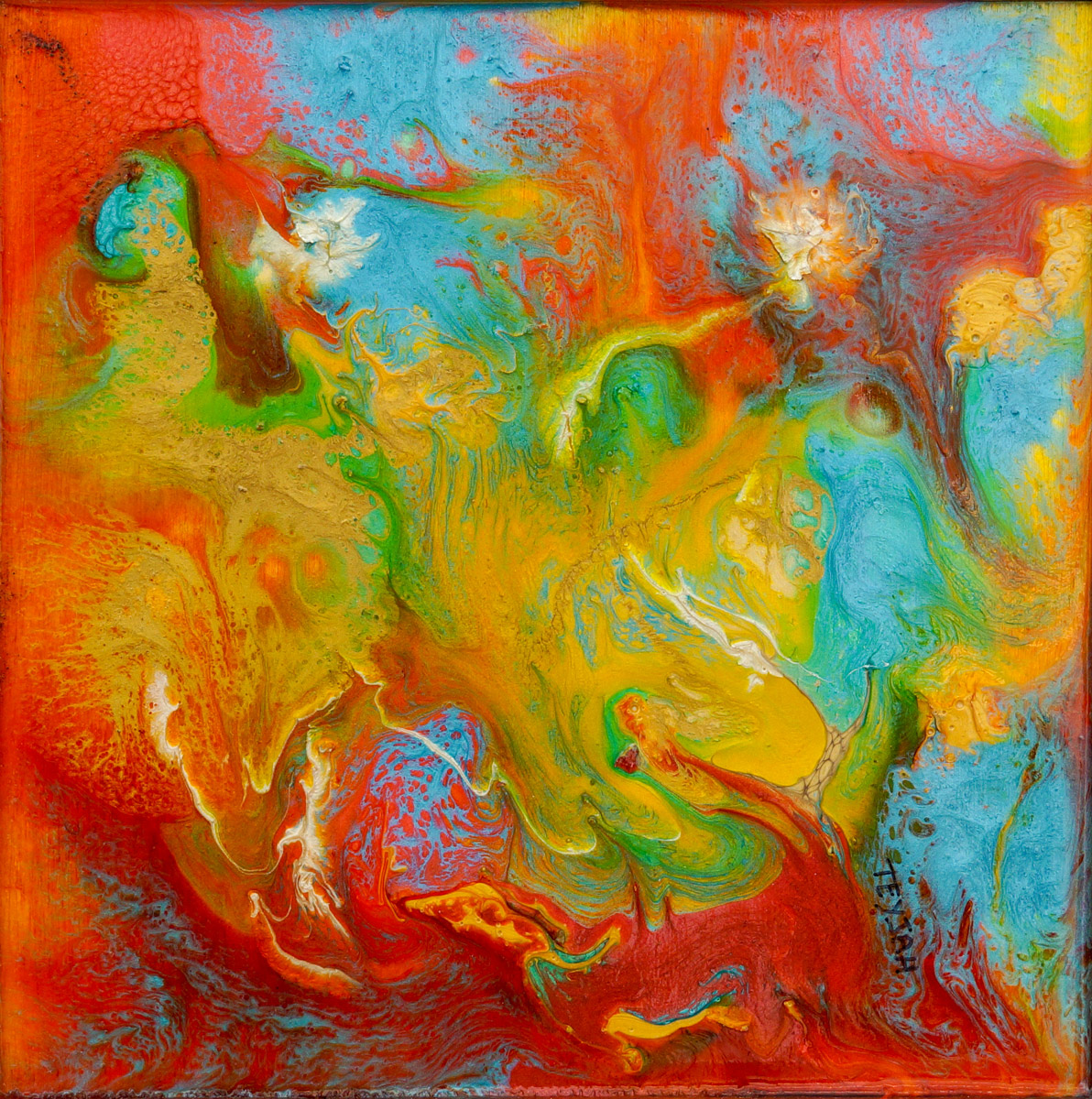 Primula Oil Painting by teyjah
