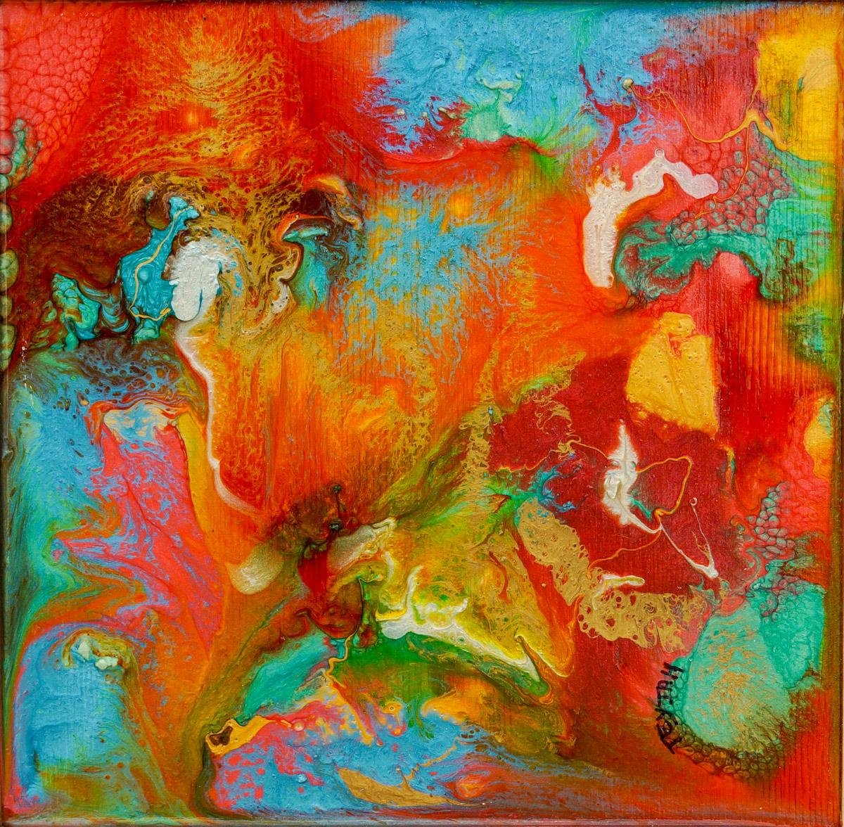 Scarlet Pimpernel Oil Painting by teyjah